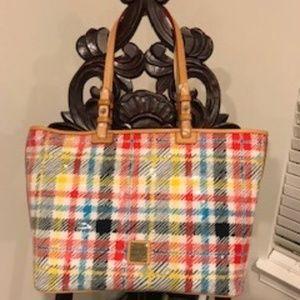 Dooney & Bourke plaid pantent leather bag